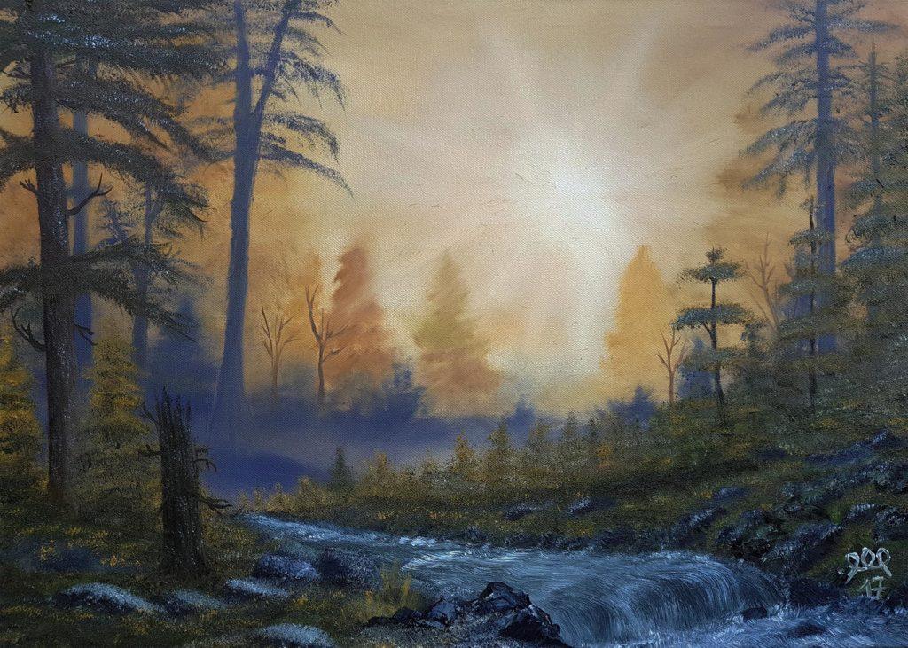 Ölbild Herbst